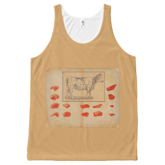 100% beef All-Over print tank top