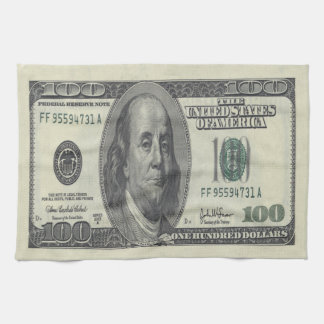 $100 Bill Kitchen Towel