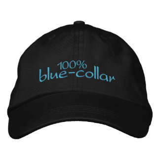 100% blue-collar embroidered hats