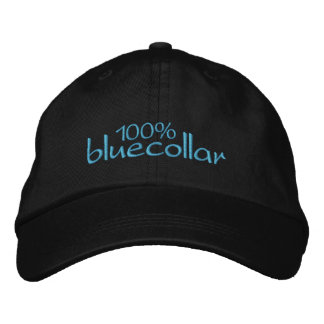 100% bluecollar embroidered hat