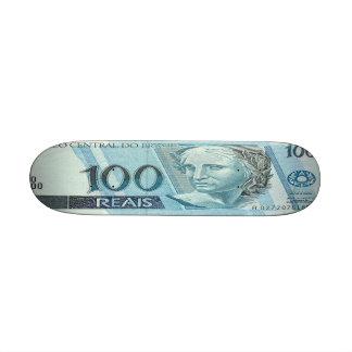 100 Brazilian Reais Banknote Skateboard Mini