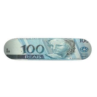 100 Brazilian Reais Banknote Skateboard Pro