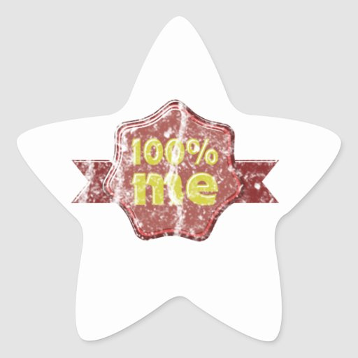 100 by cent ME grunge Star Sticker