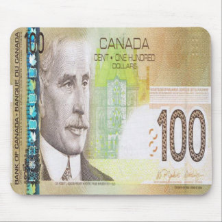 100 Canadian Dollar Bill Mouse Pad