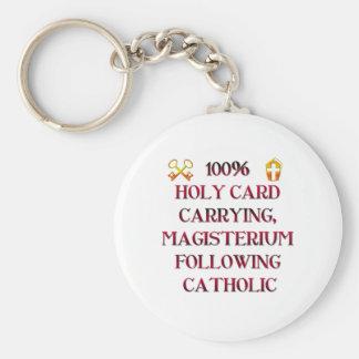 100% Catholic! Key Chains