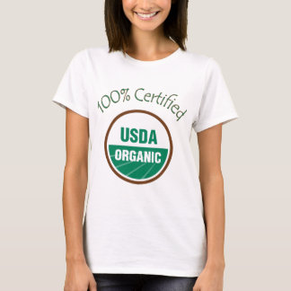 100% Certified USDA Organic T-Shirt
