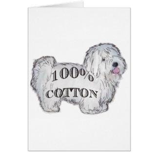 100% Cotton Card