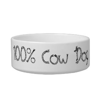 100% Cow Dog Dish