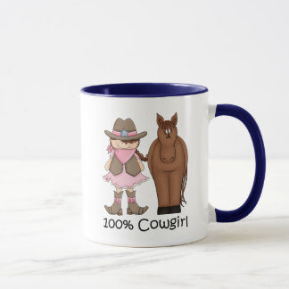 100% Cowgirl and Horse Mug