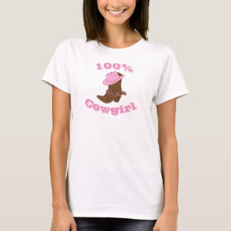 100% Cowgirl Boot and Hat Women's T-shirt