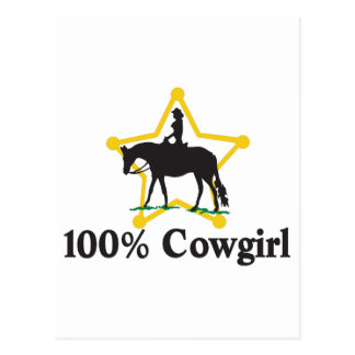 100% Cowgirl Postcard