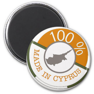 100% Cypriot! 6 Cm Round Magnet