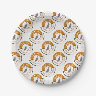 100% Cypriot! 7 Inch Paper Plate