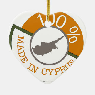 100% Cypriot! Ceramic Ornament