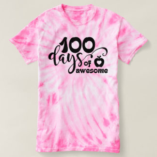 100 days of awesome, 100 days of school T-Shirt