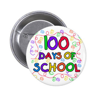 100 Days of School Confetti 6 Cm Round Badge