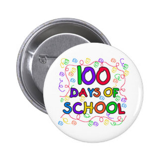 100 Days of School Confetti Tshirts and Gifts 6 Cm Round Badge