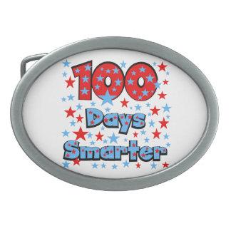100 Days Smarter Oval Belt Buckle