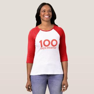 100 Days Smarter Raglan Tee (Red)