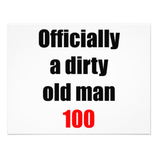 100  Dirty Old Man Personalized Invite