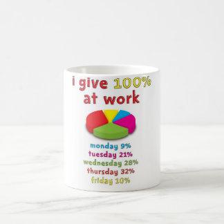 100% effort at work coffee mug