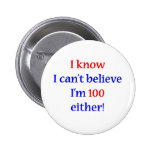 100 Either Pinback Buttons