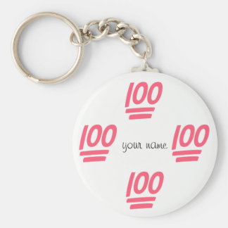 """100% Emoji  and '' Your Name Here """" Key Ring"""