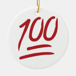100 - Emoji Ceramic Ornament