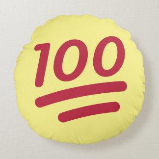 100% Emoji Round Throw Pillow
