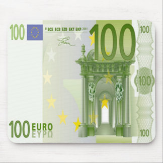 100 Euro Bill Mouse Pad