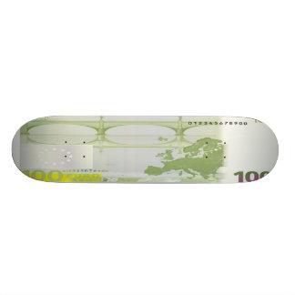 100 Euro Bill Skateboard Pro
