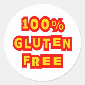100% Gluten Free Classic Round Sticker