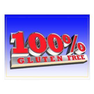 100% Gluten Free Postcard