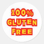 100% Gluten Free Round Sticker