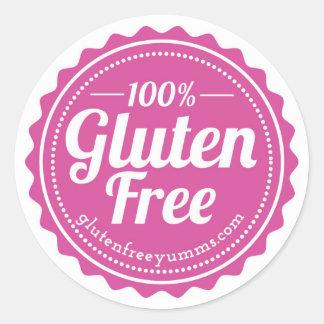 100% Gluten-Free Stickers — Pink