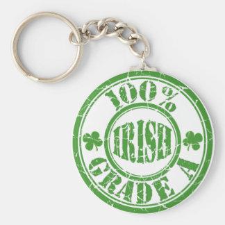 100% GRADE A IRISH Distressed Stamp Keychain Basic Round Button Keychain