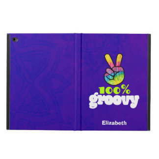 100% Groovy Rainbow Hand Peace Sign Personalized Powis iPad Air 2 Case