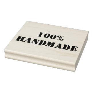 100% Handmade Wooden Block Mounted Rubber Stamp