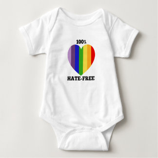 100% Hate-Free Baby One-Piece Baby Bodysuit