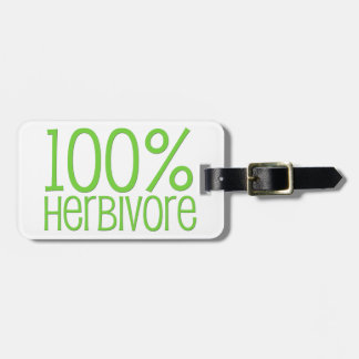 100% Herbivore Luggage Tag
