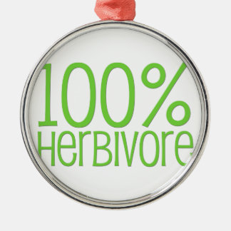 100% Herbivore Silver-Colored Round Decoration