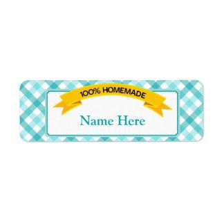 100% Homemade Food Label - Teal Return Address Label