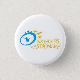 100 hours of astronomy 3 cm round badge