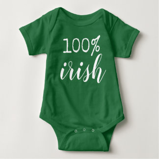 100% irish baby bodysuit