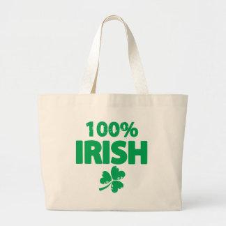 100% Irish Large Tote Bag
