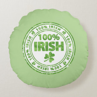 100% Irish Round Cushion