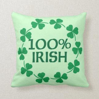 100% Irish Shamrocks Cushion