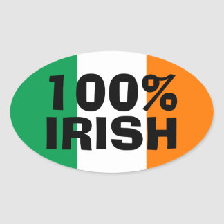 100% Irish Sticker