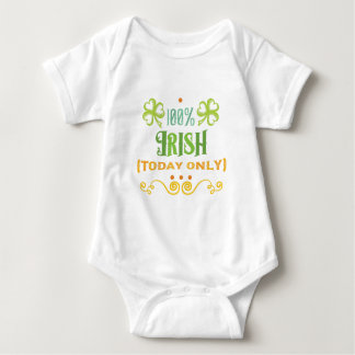 100% Irish Today Baby Bodysuit