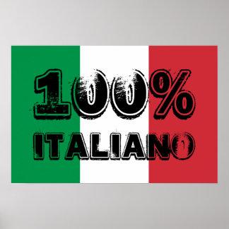100% Italiano Print